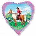 """Сердце 18""""(46см) Джулия на лошади"""