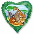 "Сердце 18""(46см) Мадагаскар (зелёный)"