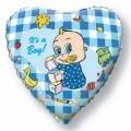 """Сердце 18""""(46см) Новорожденный мальчик (голубой)"""