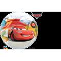 """Шар BUBBLE прозрачный 22""""(56см) Disney ТАЧКИ (McQuen & Mater - 2 разных рис.)"""