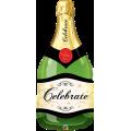 """Шампанское Белое 39""""(99см) Фигура Большая (в упаковке)"""