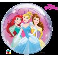 """Шар BUBBLE прозрачный 22""""(56см) Disney ПРИНЦЕССЫ (2 разных рис.)"""