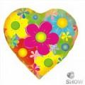 """Сердце 18 """" ( 45см ) """" Цветы """""""