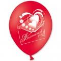 """День Валентина 12""""(30см) КРАСН. РОЗОВ. БЕЛЫЙ (6 дизайнов - 2 стороны)"""