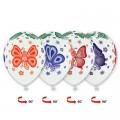 """Бабочки Многоцветн. 14""""(35см) пастель БЕЛЫЙ - рис.цветной (круговая печать)"""