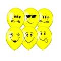 """Улыбка 12""""(30см) жёлтый пастель (6 дизайнов -2 стороны)"""