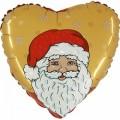 """Сердце 18""""(46см)  Дед Мороз"""