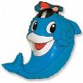 """Дельфин в фуражке  14""""(35см) мини-фигура"""