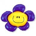 """Цветок-Смайлик ФИОЛЕТОВЫЙ 14""""(36см) мини-фигура"""