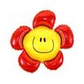 """Цветок-Смайлик КРАСНЫЙ 14""""(36см) мини-фигура"""