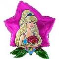 """Девушка с цветами 32""""(82см) фигура Большая"""