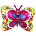 """Бабочка-Деко ЖЁЛТАЯ 23""""×35""""(59см×89см) фигура Большая"""