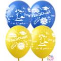 """""""Випускник"""" Укр.  12""""(30см) ГОЛУБОЙ и ЖЁЛТЫЙ пастель"""