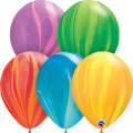 """СуперАгат 11""""(28см) АССОРТИ Rainbow (5 цветов по 5 шт.)"""