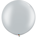 """Шар-Гигант Qualatex 30""""(76см) Металлик СЕРЕБРО (Silver)"""