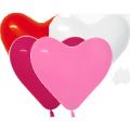"""Сердце пастель ассорти 12"""" (30см) 4 цвета (005,009,012,015)"""