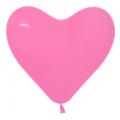 """Сердце пастель розовое 12"""" (30см)"""
