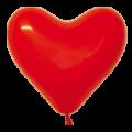 """Сердце пастель красное 10"""" (26см)"""