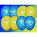 """""""Я Люблю Украину""""  10""""(26см ) пастель желтый и синий  (2 штампа )"""