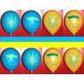 """""""Патриот"""" 12""""(30см ) желтый и синий пастель ( 2 штампа )"""