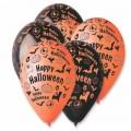 """Happy Halloween 12""""(30см) оранж. и чёрный (круговая печать)"""