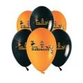 """Halloween 2  12""""(30см) пастель оранжевый и чёрный (2 стороны)"""