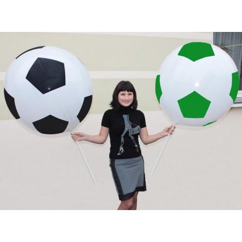 Как сделать большой футбольный мяч