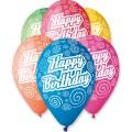 """""""Happy Birthday"""" Спирали 12""""(30см) пастель ассорти (круговая печать) ИТАЛИЯ"""