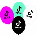 """TikTok 10""""(26см) пастель ассорти (1 сторона) Укр"""